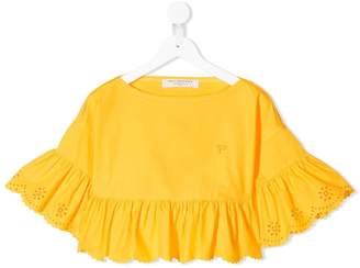 Philosophy di Lorenzo Serafini Kids frill-trim flared blouse