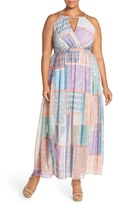 City Chic Plus Size Women's 'Moroccan Vintage' Print Maxi Dress