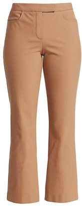 Theory Cropped Straight-Leg Trousers