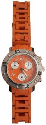 Hermes Clipper Chronographe Orange Steel Watches