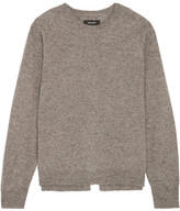 Isabel Marant Clash Split-back Wool, Yak And Cotton-blend Sweater - Gray