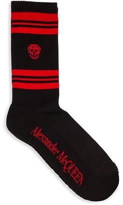 Alexander McQueen Skull Striped Socks