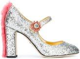 Dolce & Gabbana 'Vally' pumps - women - Leather/Rabbit Fur/PVC - 36