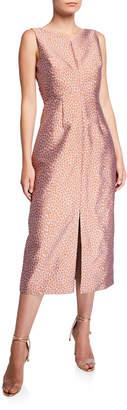 Kate Spade Floral Leopard Sleeveless Midi Dress