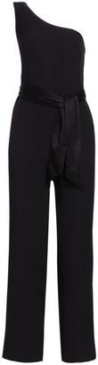 Carolina Ritzler One-Shoulder Belted Jumpsuit