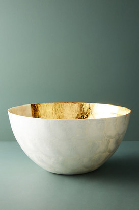 Anthropologie Ursula Serving Bowl By in Gold Size PASTA