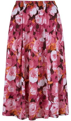 Dahlia Havren Print Flared Skirt