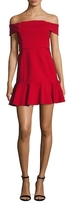 Nicholas Ponte Knit Off Shoulder Mini Dress