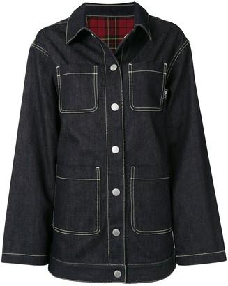 Four-Pocket Buttoned Denim Jacket