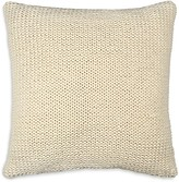 "DKNY Loft Stripe Chalk Jersey Knit Decorative Pillow, 16"" x 16"""