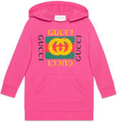 Gucci Children's hooded dress with print