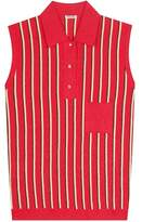 Miu Miu Striped sleeveless polo shirt
