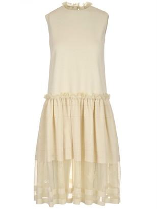 Alexander McQueen Ribbed Sleeveless Dress