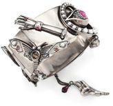 Alexander McQueen Lucky Star Crystal Cuff Bracelet