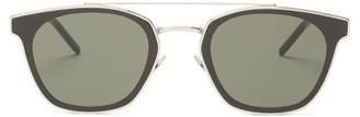 Saint Laurent D-frame Metal Sunglasses - Mens - Silver