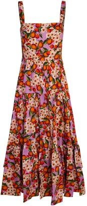 Borgo de Nor Daniela Lemonade Poplin Midi Dress