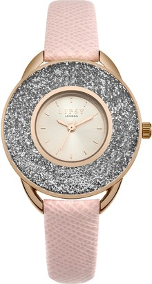 Lipsy Womens Analogue Classic Quartz Watch with PU Strap SLP010PRG