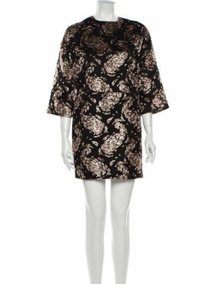 Rochas Printed Mini Dress Black