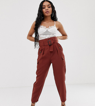 Asos DESIGN Petite tapered pants with utility pocket detail