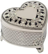 Whitehill Heart Shaped Box With Crystals