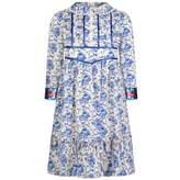 Gucci GUCCIGirls Blue Porcelain Print Silk Dress