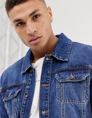 Topman denim jacket in washed blue