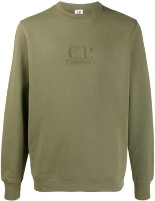 C.P. Company Crew Neck Logo Sweater