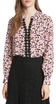 Kate Spade Bloom Print Silk Blouse