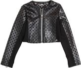 Miss Grant Faux Leather & Milano Jersey Jacket