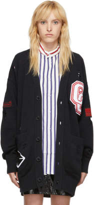 Opening Ceremony SSENSE Exclusive Black Long Varsity Cardigan