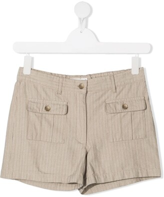 Bonpoint TEEN Saona striped shorts