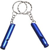 2X UNIS Colorful Aluminum Emergency Survival Whistle Keychain Safety Key Ring