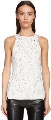 Ermanno Scervino Cotton Knit Tank Top W/crystals