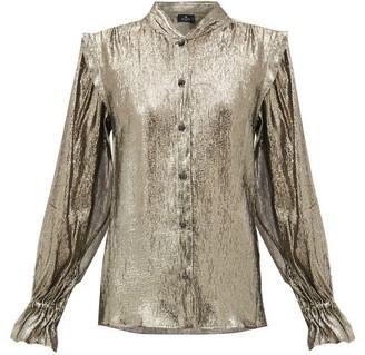 Etro Borana Silk-blend Shirt - Silver