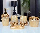 SAEJJ-European-style garden resin mug Kit five piece bathroom-bathroom supplies new housewarming gift Bath ensemble