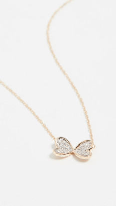 Adina 14k Pave Butterfly Necklace