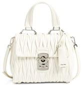 Miu Miu Small Matelasse Leather Satchel - White