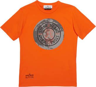 Stone Island Boys' Moonlanding Screen-Print Logo T-Shirt, Size 8-10