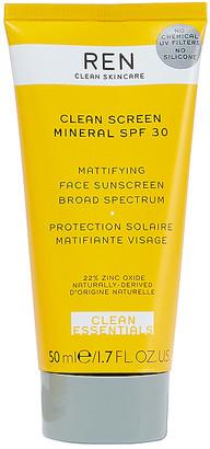 REN Clean Skincare Clean Screen Mineral SPF 30 Mattifying Face Sunscreen