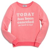 Wildfox Couture Girls' Today Has Been Canceled Baggy Beach Jumper - Sizes 7-14
