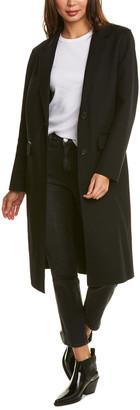 Mackage Hens-R Long Wool-Blend Coat