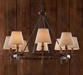 Pottery Barn Collins Chandelier - Aged Brass