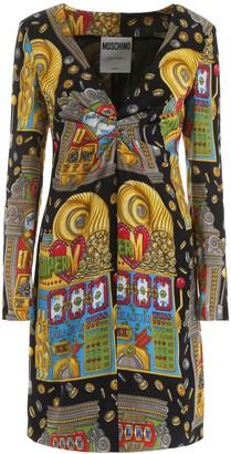 Moschino Slot Machine Printed Dress