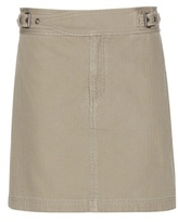 Marc by Marc Jacobs Buckle Front cotton miniskirt