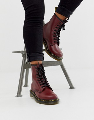 Dr. Martens 1460 8 eye leather boots in cherry