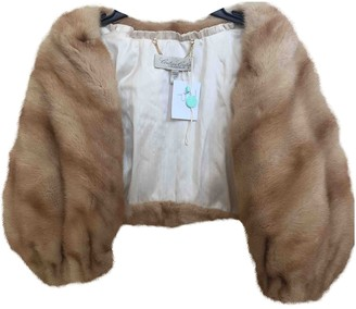 BEIGE Non Signe / Unsigned Mink Jacket for Women