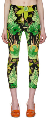 Fendi Multicolor Garden Print Leggings