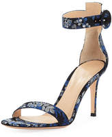Gianvito Rossi Portofino Floral Ankle-Wrap Sandal