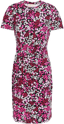 MICHAEL Michael Kors Knotted Floral-print Jersey Mini Dress