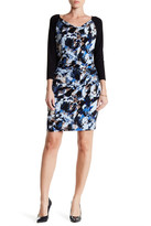 Laundry by Shelli Segal Cowl Neck Printed Dress